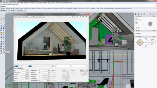 Проект частного дома в программе Rhino 3D с дизайном интерьера