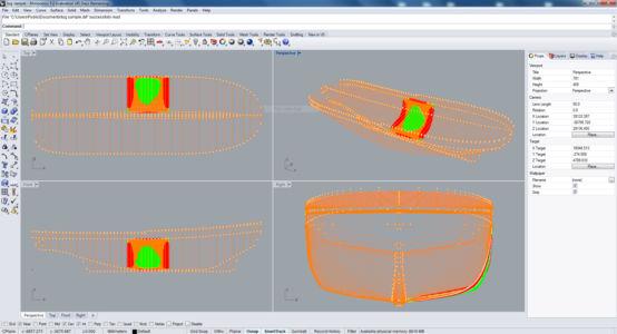 Днише бота в программе Риноцероз 3д описанное набором профилированных кривых
