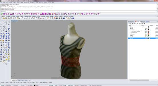 Создание виртуального манекена в Райноцерос для пошива одежды