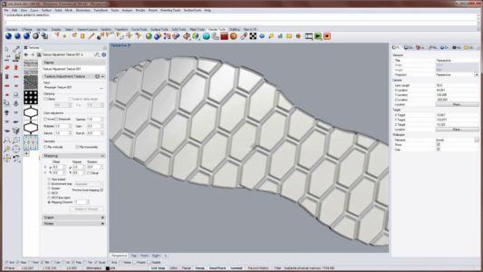 Создание подошвы для обуви в Райноцероз 3д