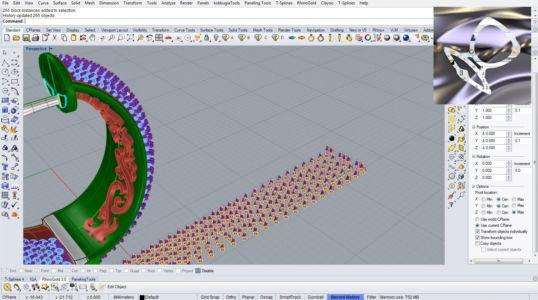 Ювелирные серьги изготовленные в Рино 3д с обсыпкой на лицевой стороне и орнаментом на обратной