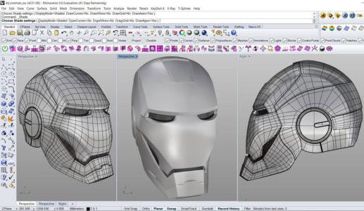 Модель шлема Человека-Муровья в программе Райно