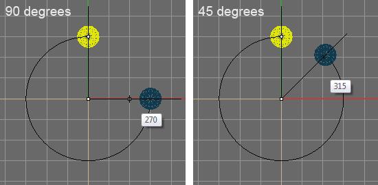 Опция Snap degree в настройках Rhino 4, 5 и 6 - Визуальный пример.