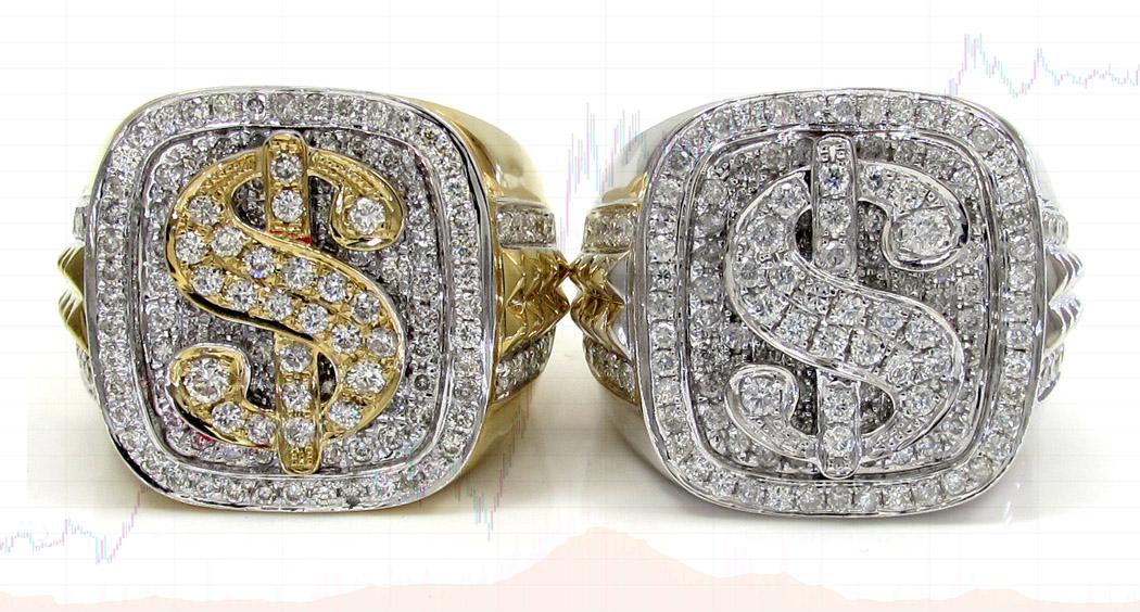 Ювелирная 3D-модель кольца-печатки с долларом США