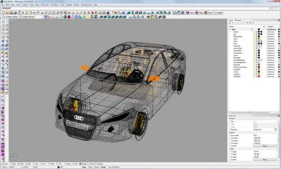 Автомобиль Audi A4 построенный полностью в программе Райноцероз