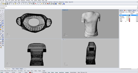 Создание модели футболки по линиям в программе Рино 3д