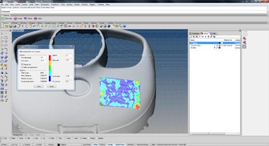 Процесс ретопологии детали в Риноцерос с испльзованием плагина для реверсивной инженерии