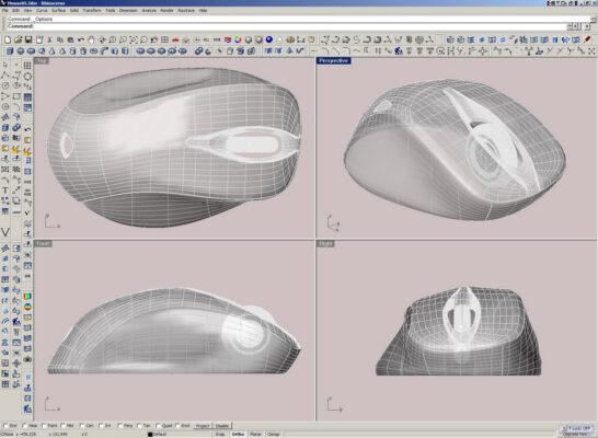 Модель компьютерной мыши в третьей версии программы Райно