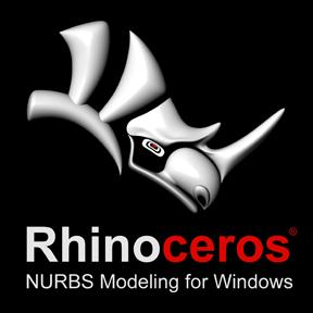 Rhinoceros 3D - логотип программы в темном исполнении