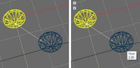 Опция Ccursor tooltips в настройках Rhino 4, 5 и 6 - Визуальный пример.