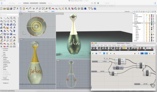Дизайн флакона для парфюма в Райноцероз