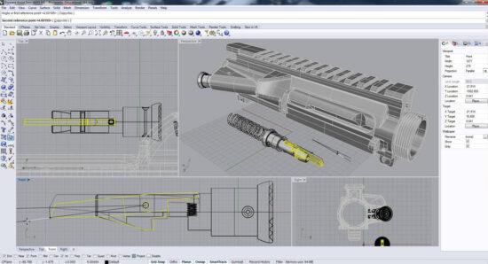Модель планки Пикатини в Rhino 3D
